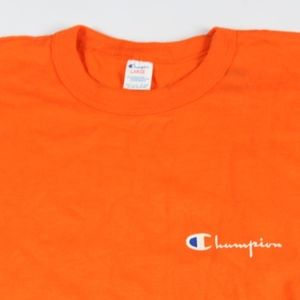 4401c26962ee Champion Shirts   Vintage Spell Out Knit Shirt Orange Large   Poshmark